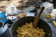 Pētera pašpagatavotā omletes šaufelīte