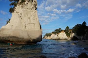 Cathedral Cove. Otro reizi. Šoreiz no ūdens.