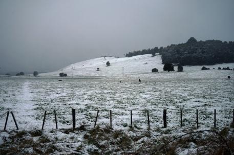 Izbraucot no Taupo, mani pavadīja ziema.