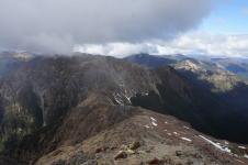Otrā diena. Jau ceļā lejup no Rintoul kalna.