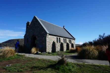 Lake Tekapo. Good Shepherd baznīca.