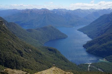 Skats uz Te Anau ezeru.
